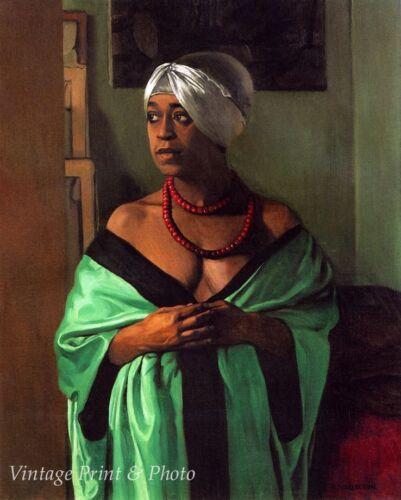 Art Black Woman French Model Paris 8x10 Print 0580 Aicha by Felix Vallotton