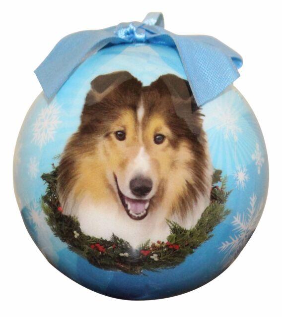 SHELTIE SHETLAND SHEEPDOG CHRISTMAS BALL ORNAMENT DOG ...