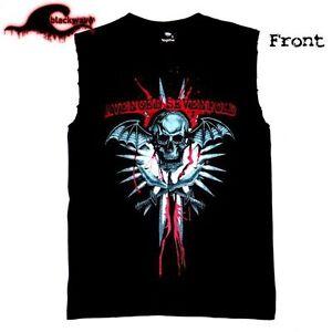 Avenged-Sevenfold-Blood-Deathbat-Modified-Frayed-Cut-Off-Band-Singlet