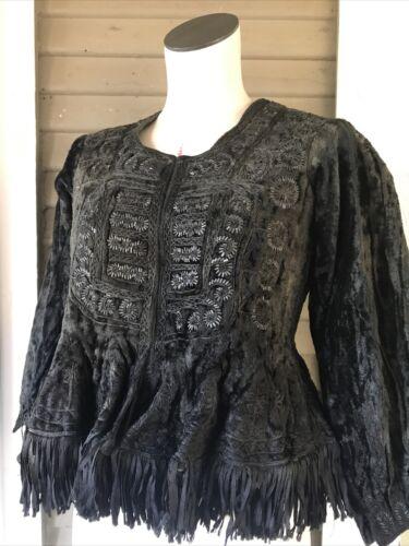 Edwardian Victorian 1800s RARE Jacket Beaded Black