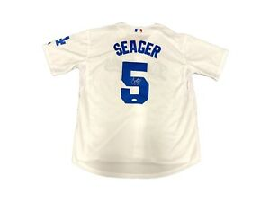 the latest c8437 7efdd Details about Corey Seager Los Angeles Dodgers (Home White) Signed Jersey  JSA