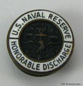 US-NAVAL-RESERVE-USNR-Vintage-Military-CUFF-BUTTON