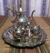 Silverplate 4 piece Tea Set FB Rogers  Silver Co salt pepper shakers holiday im