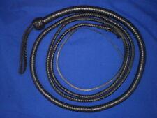 snake whip 12 plait 10 ft leather bullwhips whips bullwhip