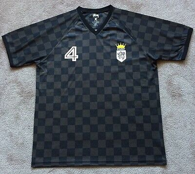 $60 STUSSY INTERNATIONAL SOCCER JERSEY LION CREST CHECKERED XXL MENS