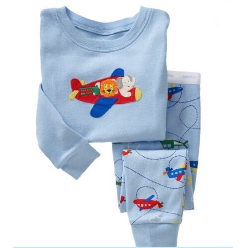 Boys sleepwear set 2T-7T Aircraft pattern cotton Breathable Comfortable home