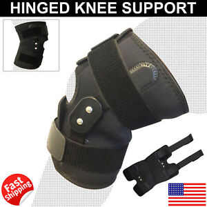 Adjustable-Pain-Relief-Hinged-Knee-Support-Open-Patella-Brace-Gym-Straps-L-XL