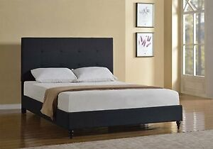 image is loading twin full queen king size black platform bed - Ebay Queen Bed Frame