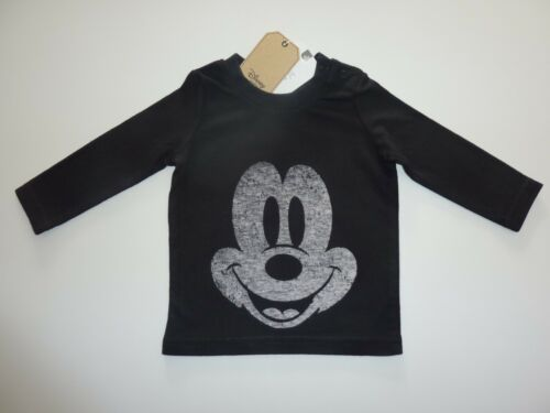 Disney MICKEY MOUSE Black Long Sleeve Top from NEXT NWT