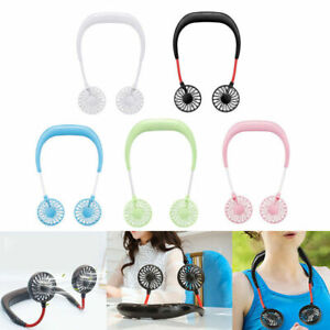 Summer-Hands-Free-Neck-Band-Hanging-USB-Rechargeable-Dual-Fan-Mini-Air-Cooler-FA