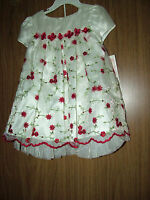 Bonnie Baby Girls Holiday/party/wedding 2 Pc Dress Set, Muticolor,sz.18-24 Month