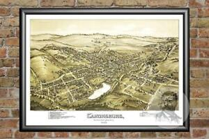 Old Map of Canonsburg, PA from 1897 - Vintage Pennsylvania Art, Historic Decor