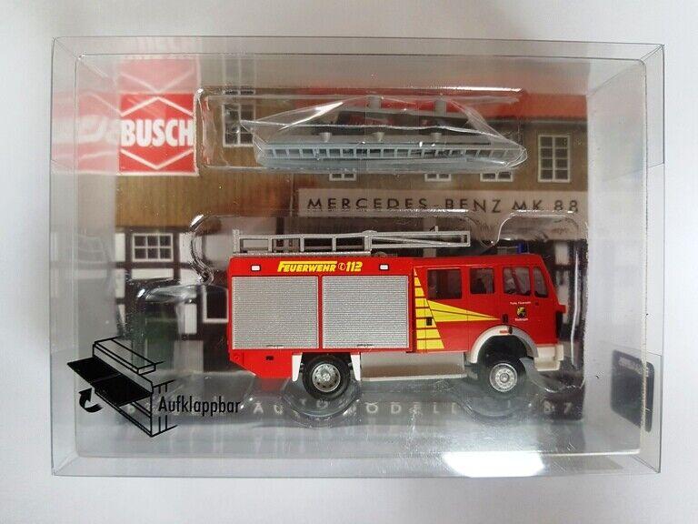 BUSCH 5608 HO Feuerwehr-Leiterwagen Mercedes-Benz LP 809  #NEU in OVP#
