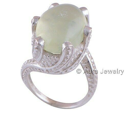 Details about  /Prehnite Solid 925 Sterling Silver Boho Ring Ethnic Jewelry R2232-1 ANY SIZE
