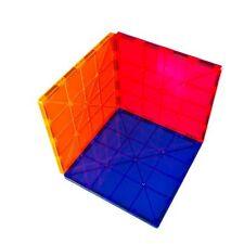 "SALE! Magnet Tiles Mag-Genius 6"" x 6"" Building Magnetic Plate Set of 3 Colors"