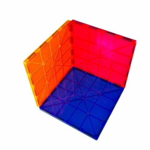 "Magnet Tiles Mag-Genius 6/"" x 6/"" Building Magnetic Plate Set of 3 Colors SALE"