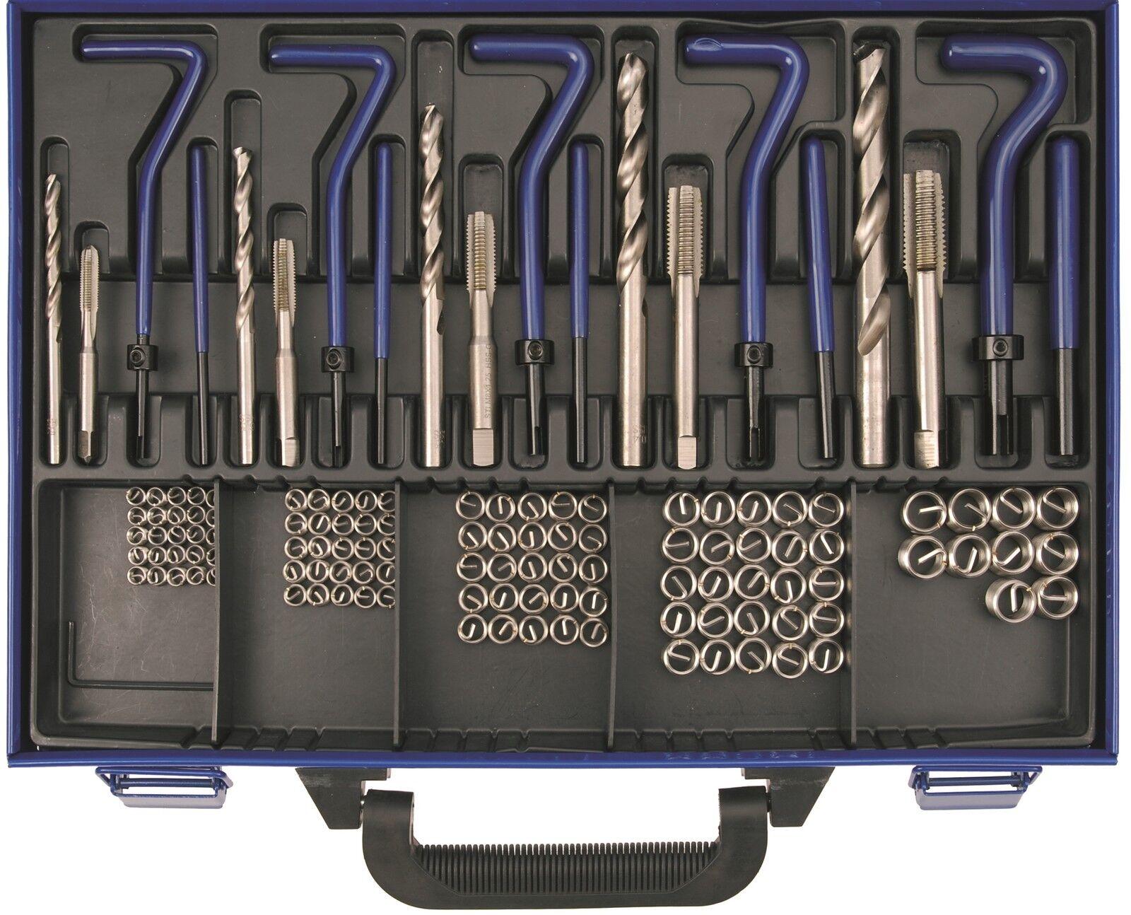 BGS  Gewinde-Reparatur Satz M5-M6-M8-M10-M12 130-tlg Gewindeeinsätze reparieren