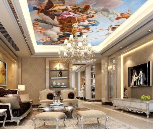 3D Angel Pattern Art Ceiling Wall Paper Wall Print Decal Wall Deco AJ WALLPAPER