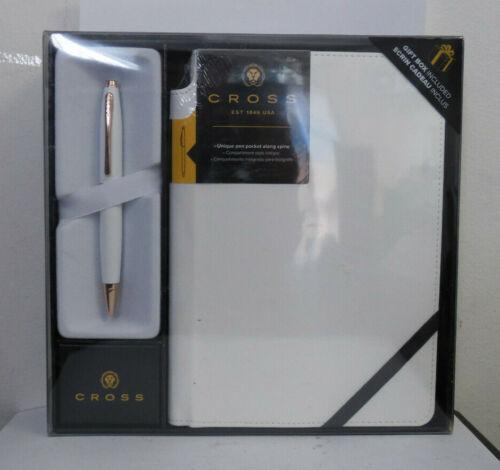 Cross White Ballpoint Pen /& Medium Journal