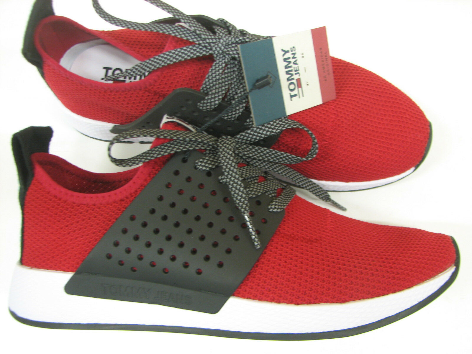 Tommy Hilfiger Sneaker Schnürer Knit Sneaker rot tango Red Runner Gr. 42 2018