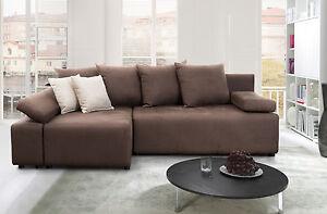 edles ecksofa schlafsofa fabio mit federkern und. Black Bedroom Furniture Sets. Home Design Ideas