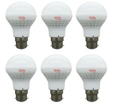 6 PCS OF RIDHU SUPER BRIGHT 5W LED BULB B22 WHITE 5W BULB FOR HOME AND OFFICE