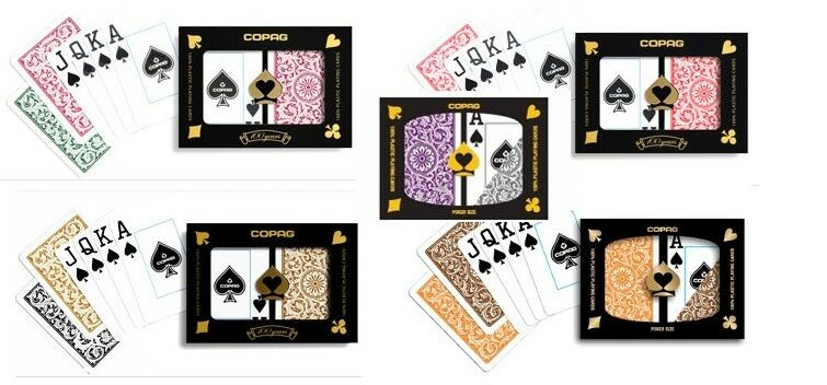 Copag 1546 Jumbo Poker Mix -5 double Ponts