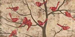 Fabrice de Villeneuve \'The Gathering - Pink\' Giclee Canvas Painting ...