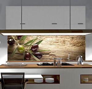 Details zu Küchenrückwand SP686 OLIVE HOLZ Acrylglas Spritzschutz  Fliesenspiegel Rückwand