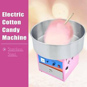 Cotton-Candy-Maker-Commercial-Electric-Machine-Kids-Party-Sugar-Floss-SS-Pink