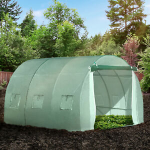 Outsunny Large Walk-in Polytunnel Greenhouse Outdoor Any Season-Gardening
