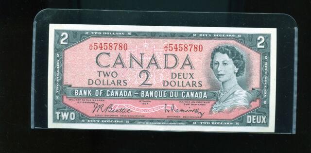 1954 Bank of Canada $2 Beattie Rasminsky UNC Wl18