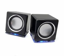 Incutex LED Boxen Lautsprecher schwarz Audio Tablet iPod MP3 CD Player PC Laptop