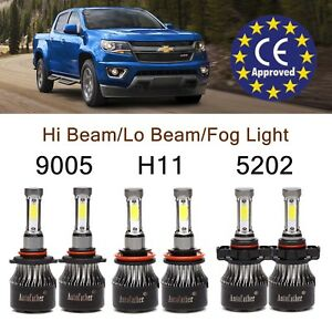 Chevy Colorado 2018 >> Details About For Chevy Colorado 2018 Led Headlight 9005 H11 5202 Hi Lo Fog Lights Bulbs Combo