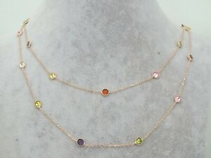 Turkish-Handmade-Jewelry-925-Sterling-Silver-Multi-Stone-Women-Necklace