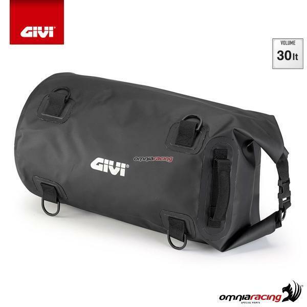 GIVI Easy-T Bolsa cilíndrica impermeable para sillín o portapaquetes 30 lt negro