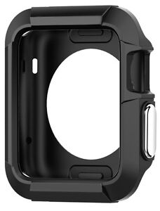 Apple-Watch-Protective-Case-Cover-iWatch-Bumper-Protector-Black-42mm