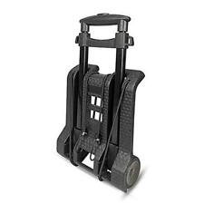 Luggage Cart With Wheels Folding Hand Truck With Bungee Cord Compact Black