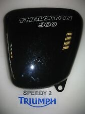 TRIUMPH THRUXTON 900 EFI LEFT SIDE PANEL JET BLACK SILVER DECOR T2309409-PG