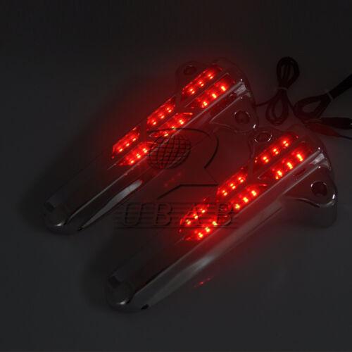 ABS LED Light Forkini Lower Fork Leg Covers for 14-up Harley FLHT FLHX FLHR US