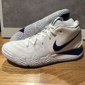 new styles a9763 c1f4c Details about Nike Mens Kyrie 4 White Deep Royal Blue Green 943806-103 DS  Sz 11.5 Basketball