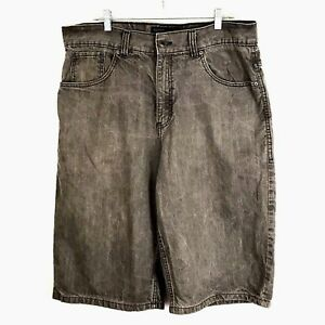 Rocawear Mens Shorts Size 36 Gray Denim Short Back Flap Embroidered