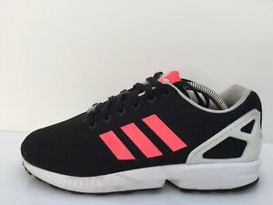 Adidas-ZX-Flux-B34057-Noir-Maille-Tricot-Sport-Gym-Baskets-Unisexe-Taille-UK-8-EUR-42