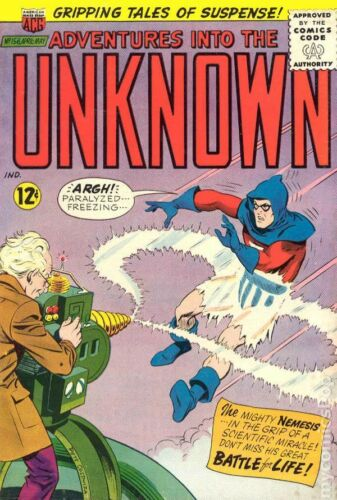 Adventures into the Unknown #156 VG 4.0 1965 Stock Image Low Grade