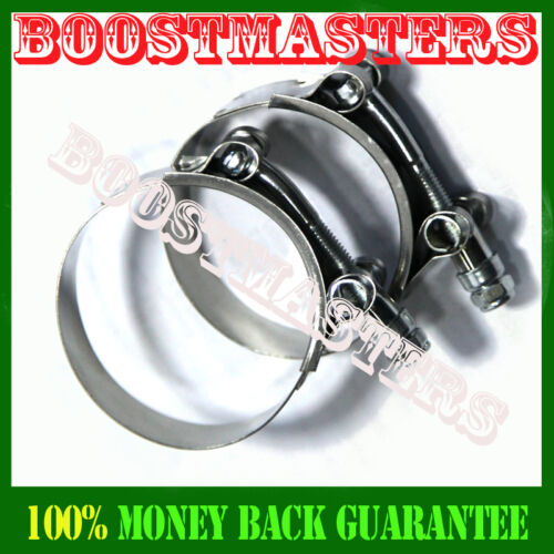 """2pcs Stainless Steel T-Bolt Clamp 2/""""ID Silicone Intake Turbo Intercooler Coupler"""