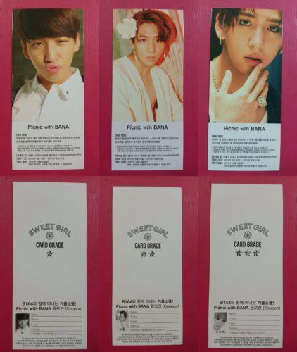 B1A4 BARO 3 pcs Official Photocard Sweet Girl Mini Album Photo Card BA RO 바로