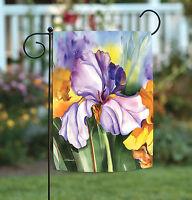 Toland - Iris Field - Colorful Purple Flower Spring Garden Flag