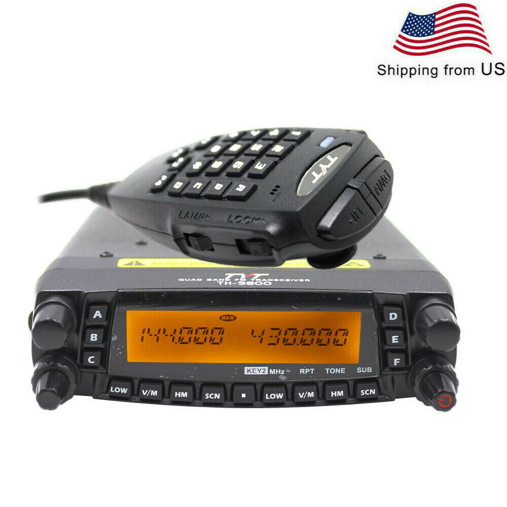 TYT TH-9800 50W Quad Band 29/50/144/430MHz Dual Display Mobile Walkie Talkie. Buy it now for 201.00