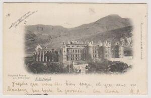 Midlothian postcard - Holyrood Palace & Arthur Seat, Edinburgh - P/U 1902 (A620)