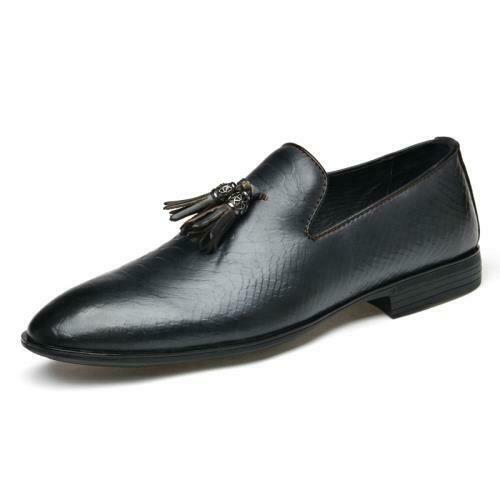 Details about  /38-50 Mens Dress Formal Business Leisure Shoes Tassels Pointy Toe Oxfords Chic L
